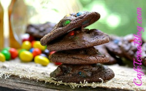 boozey salted m&m cookies
