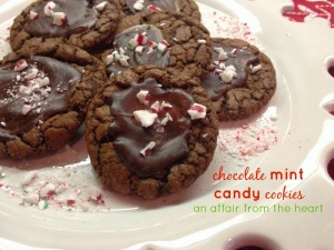 chocolate mint candy cookies