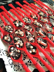 chocolate peppermint stir spoons