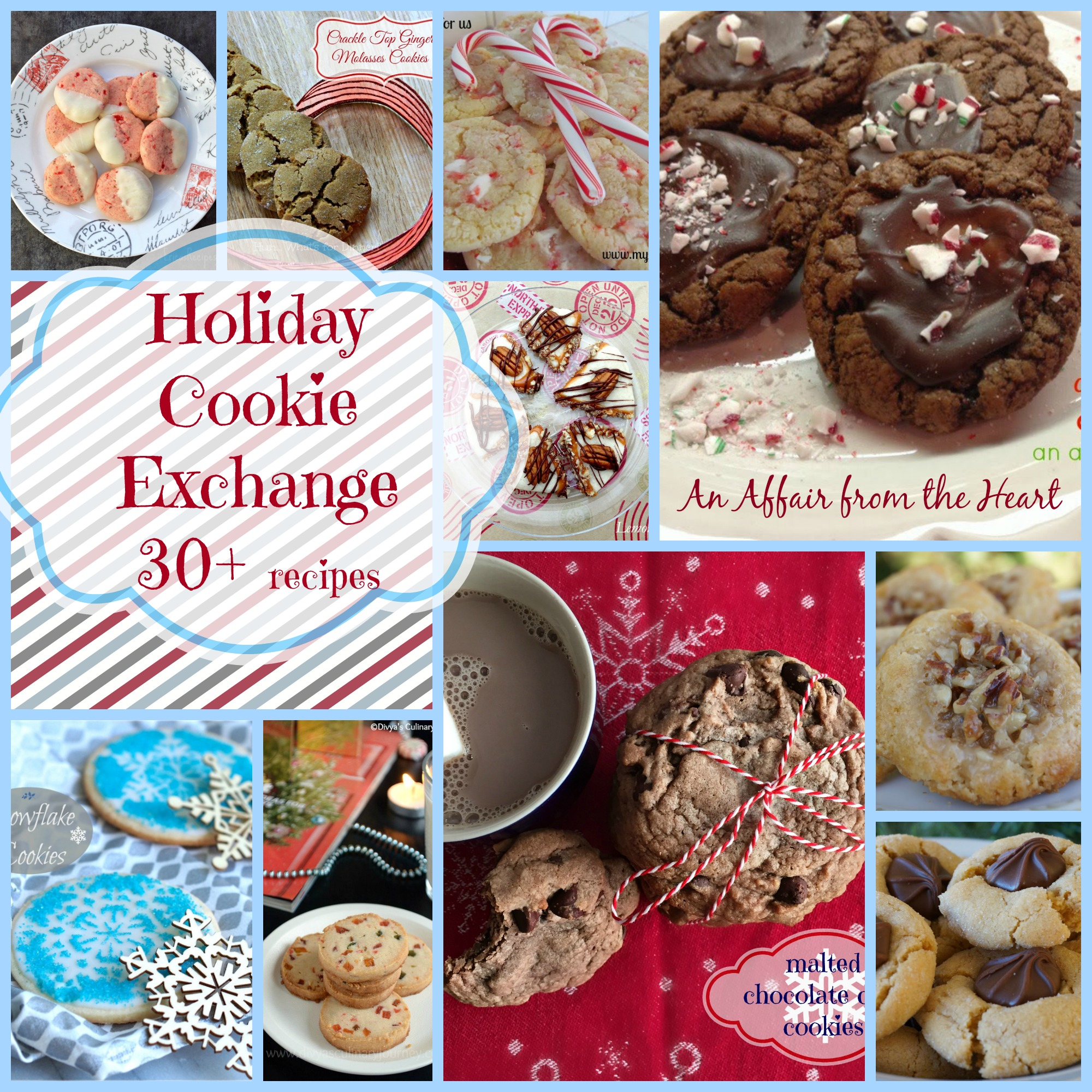 holiday cookie exchange collage