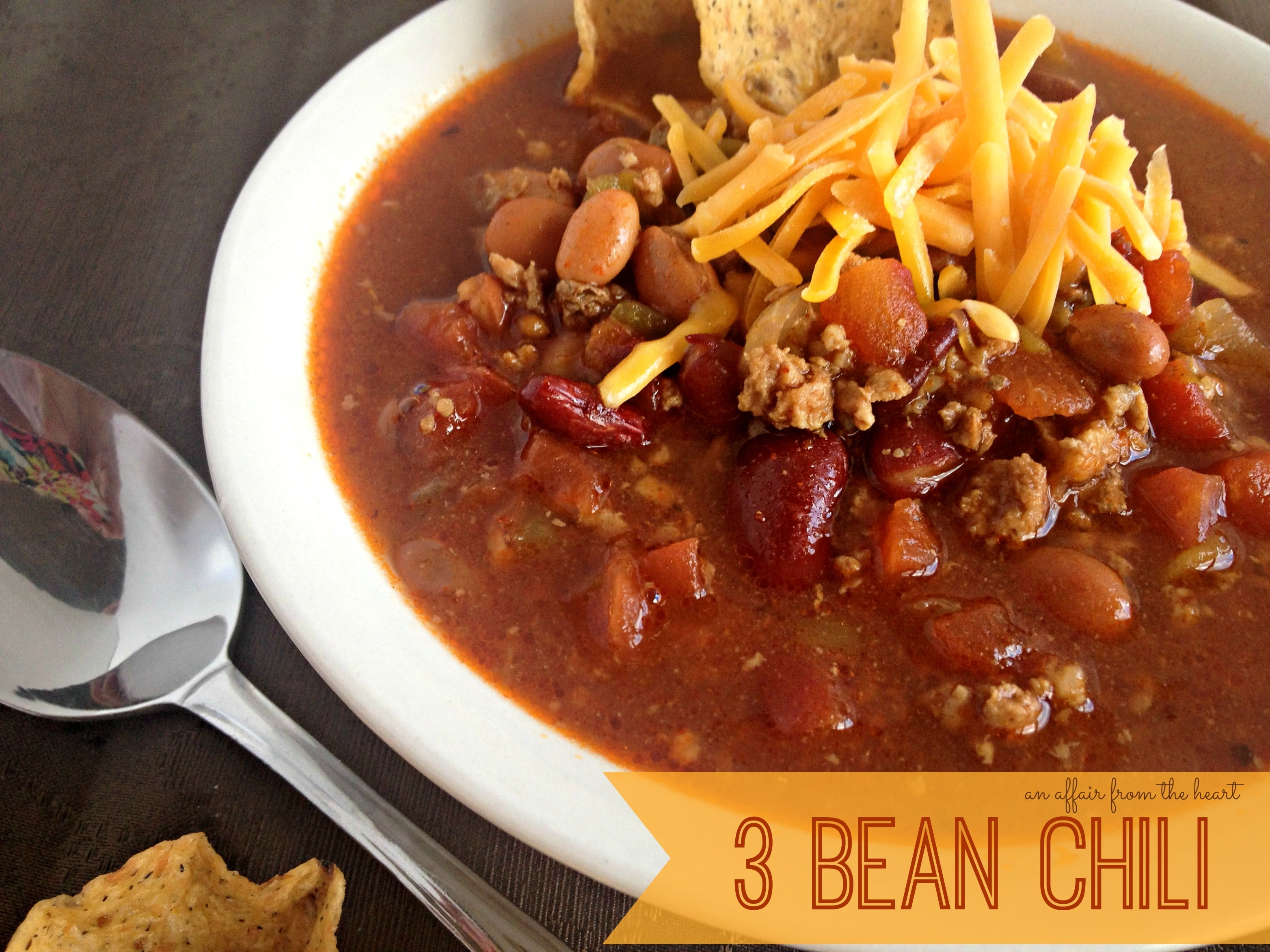 Three Bean Chili | An Affair from the Heart