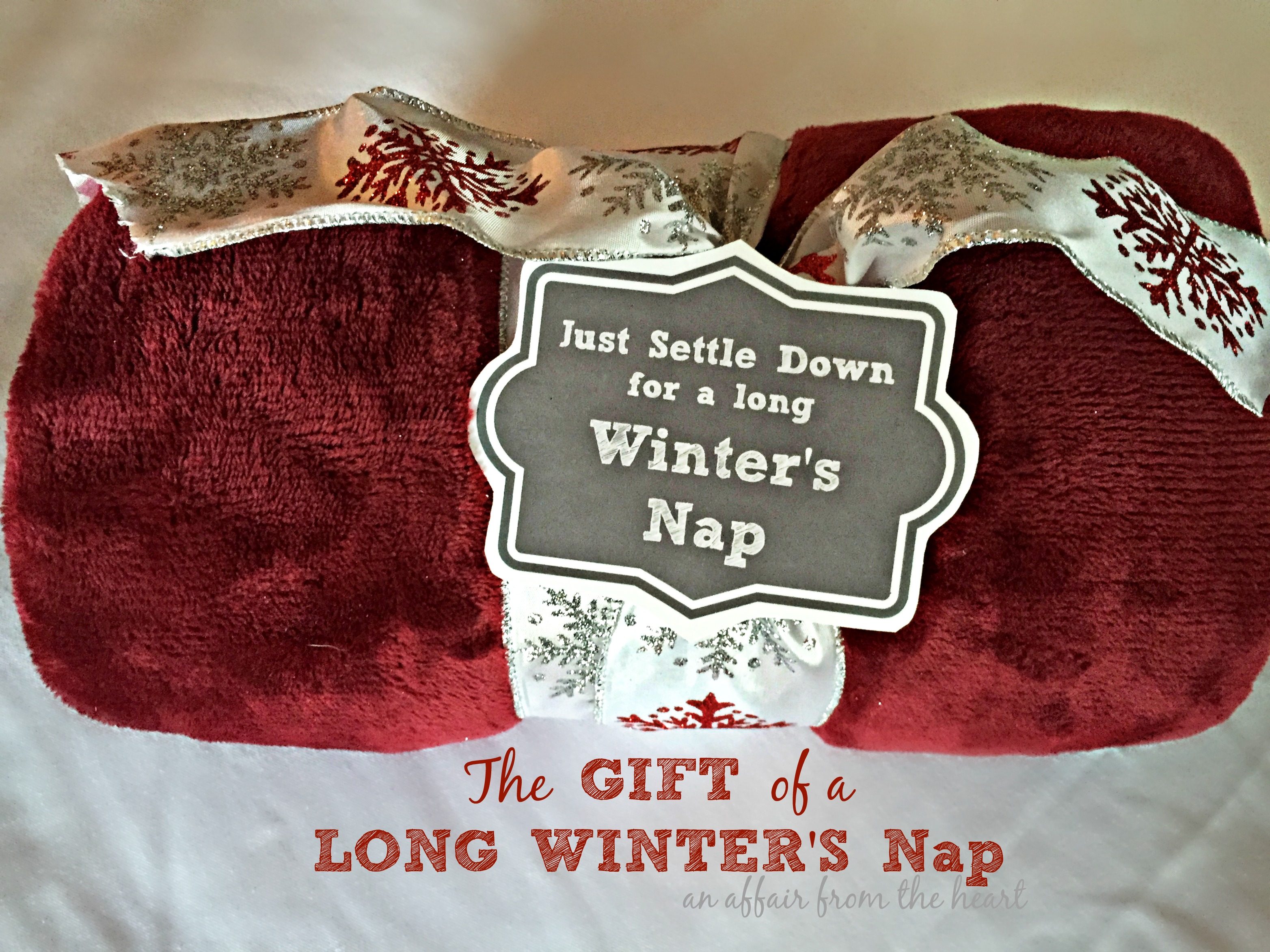 Settle Down For A Long Winter S Nap Gift Idea Printable Tag
