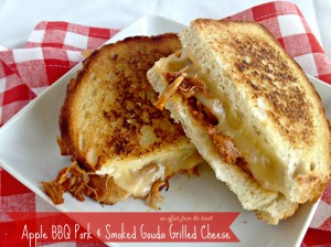 Apple BBQ Pork & Smoked Gouda Grilled Cheese - An Affair from the Heart