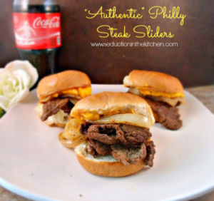 Authentic Philly Cheeesesteak Sliders - Seduction in the Kitchen