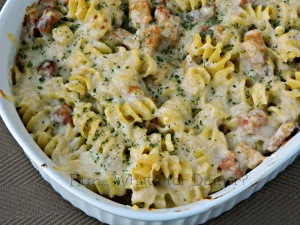 Chicken Cordon Bleu Pasta - Hun What's for Dinner