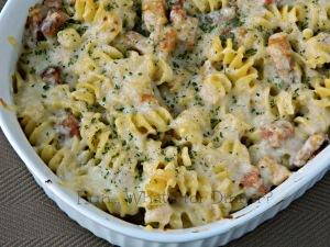 Chicken Cordon Bleu Pasta - Hun What's for Dinner