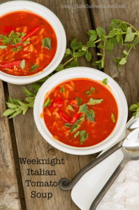 Easy Weeknight Italian Tomato Soup with or without Shrimp - from Life Currents