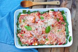 One Dish Baked Fish Marinara - The Fountain Avenue Kitchen