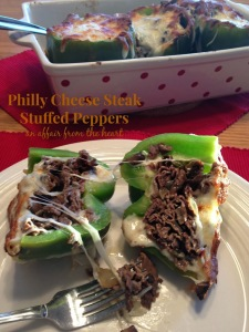 Philly Cheesesteak Stuffed Peppers - An Affair from the Heart