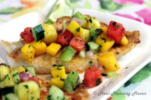 broiled grouper with tropical fruit salsa - meal planning maven