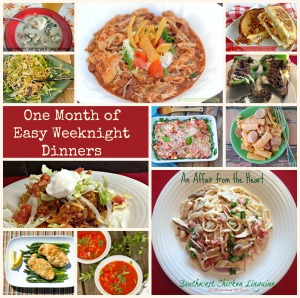 One Months Worth of Weeknight Dinners