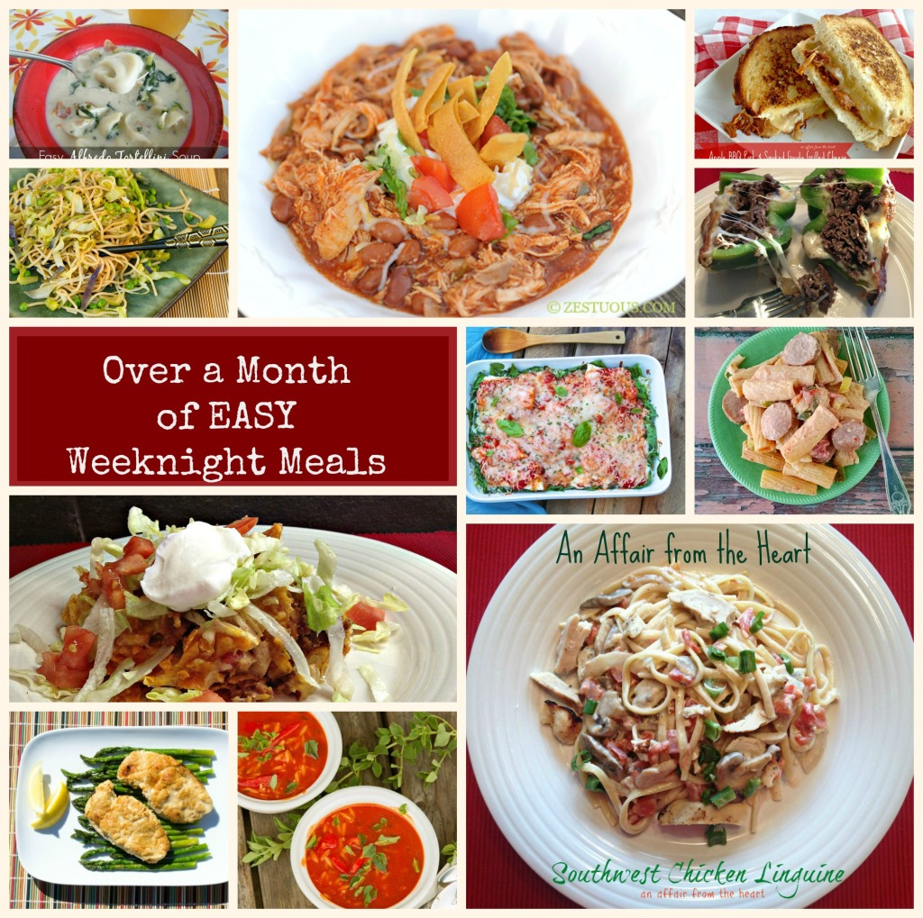 Over ONE MONTH'S worth of EASY WEEKNIGHT MEALS