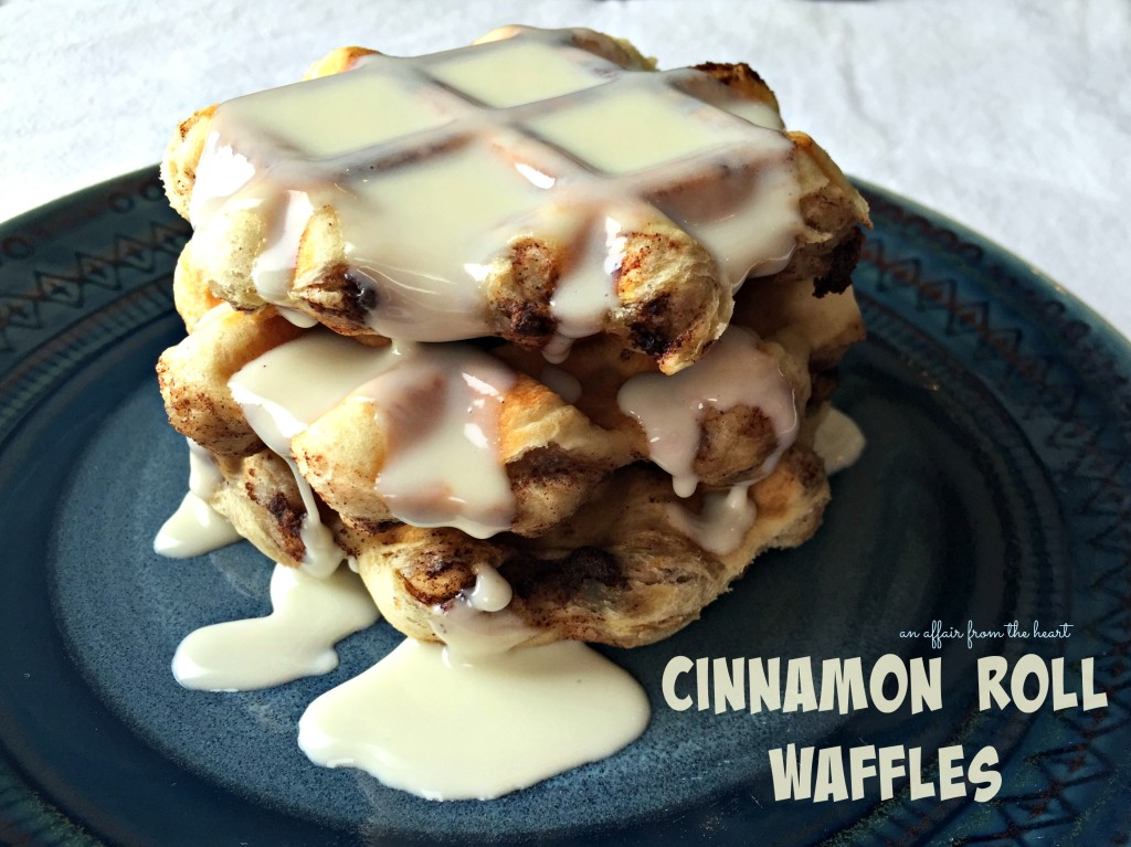 Cinnamon Roll Waffles | An Affair from the Heart