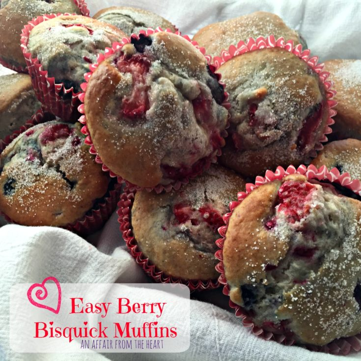 Easy Berry Bisquick Muffins