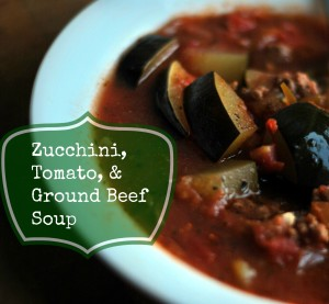 Zucchini, Tomato and Ground Beef Soup