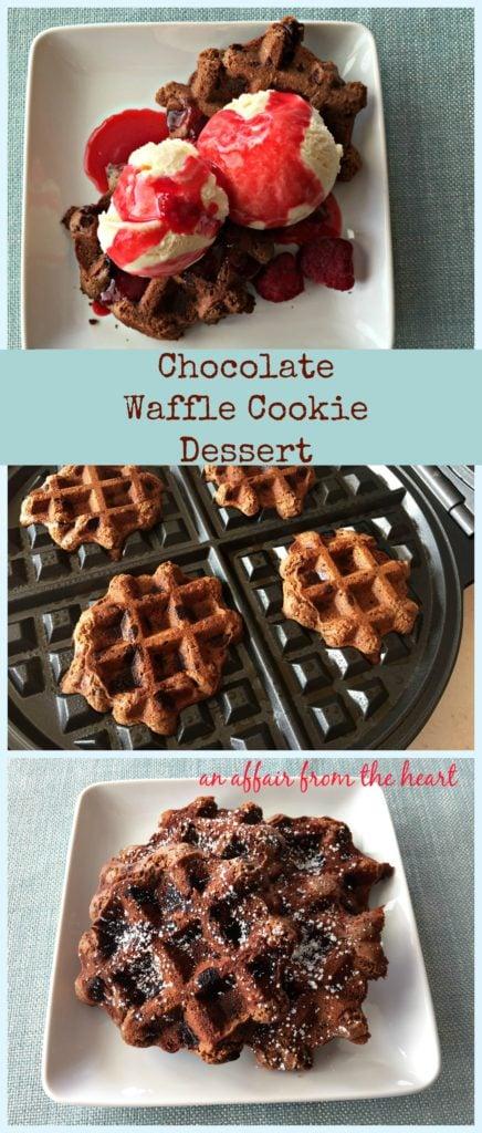 chocolate waffle cookie dessert