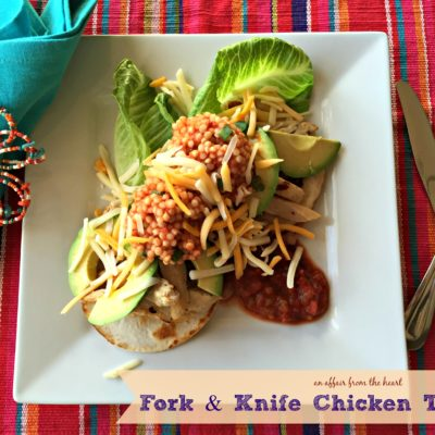 Fork & Knife Chicken Tacos – #ChoppedAtHome Challenge