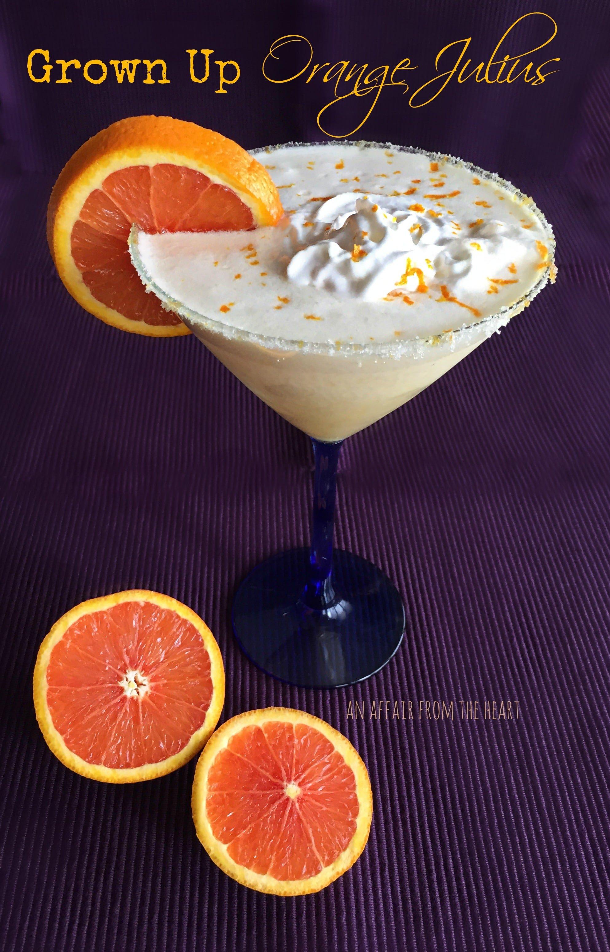 Cocktail Karte.Grown Up Orange Julius