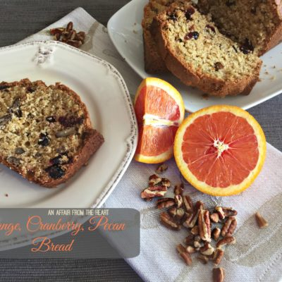 Orange, Cranberry, Pecan Bread