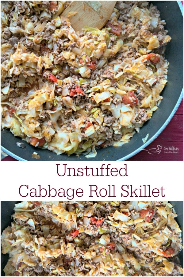 Unstuffed Cabbage Roll Skillet -- An Affair from the Heart