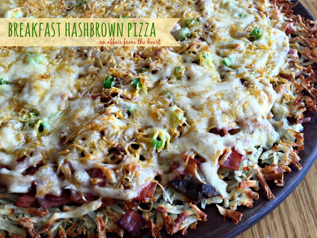 breakfast hashbrown pizza