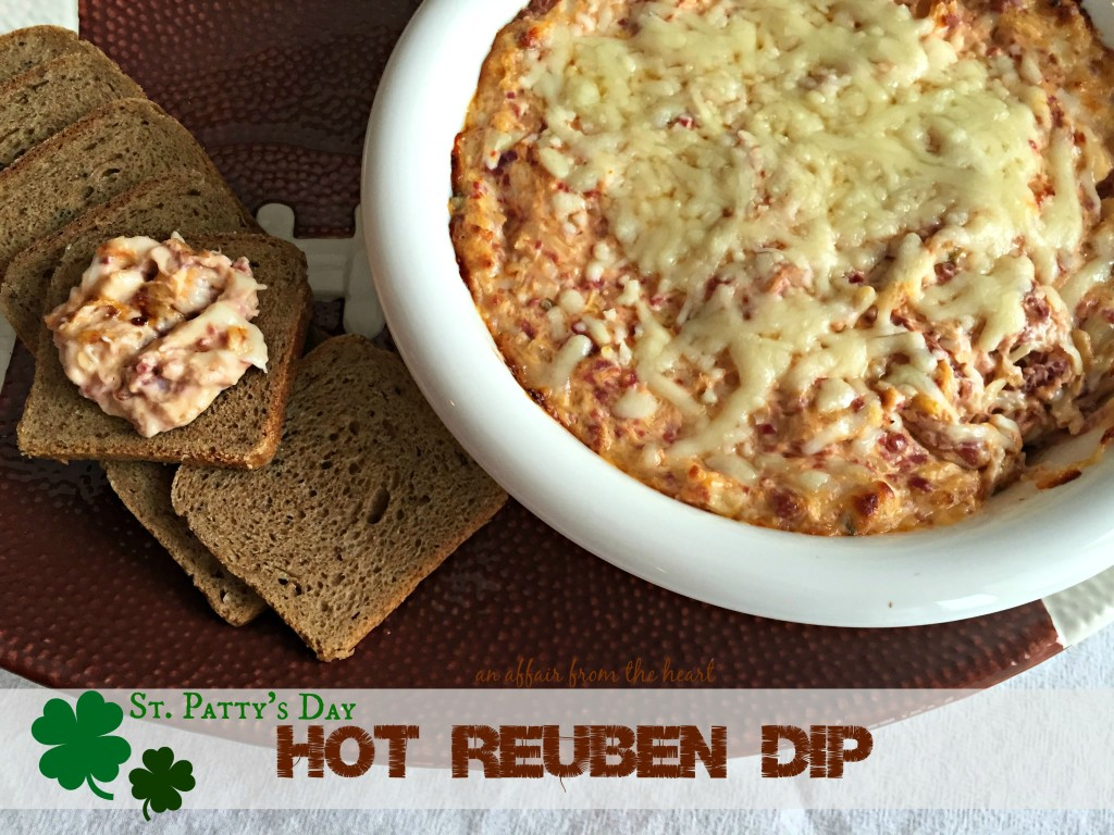 st patty's day hot reuben dip