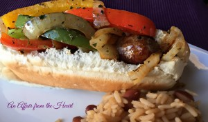 sweet italian sausages with peppers and onions