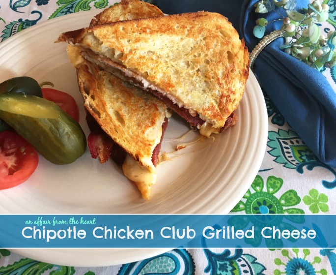Chipotle Chicken Club Grilled Cheese