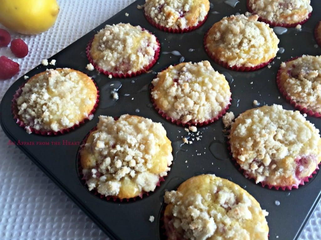 Lemon Raspberry Crumb Muffins