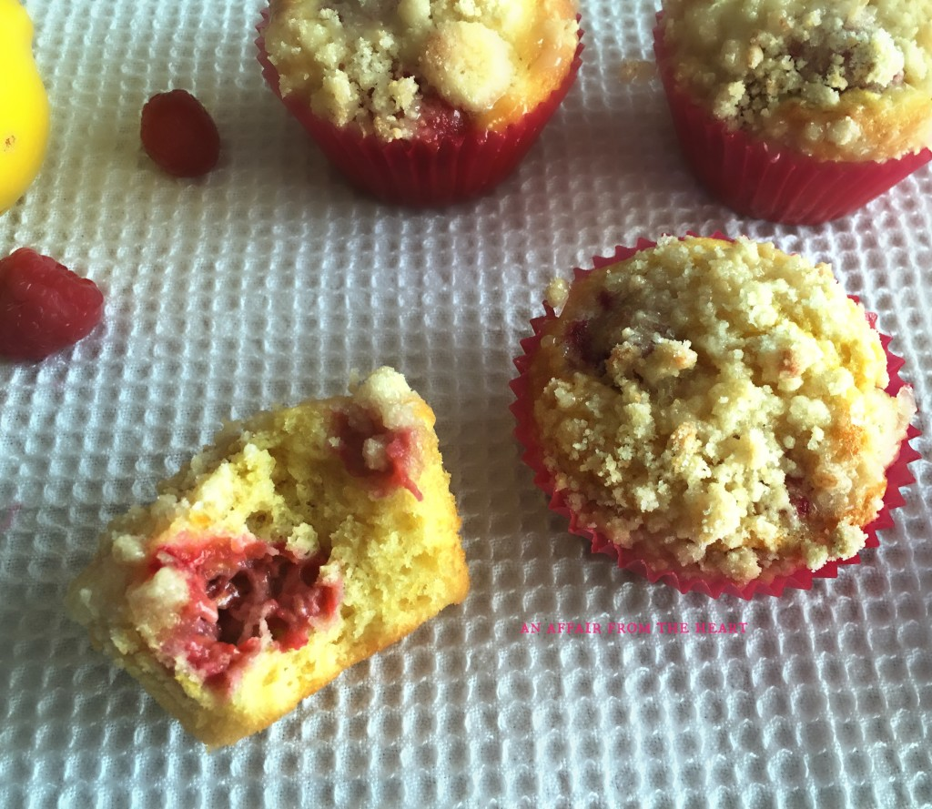 Raspberry-topped Lemon Muffins Recipes — Dishmaps