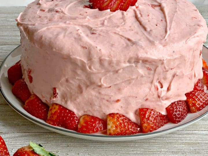 Strawberry Cake Grandmother S Favorite With Real Strawberries Inside
