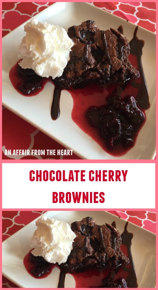 Chocolate Cherry Brownies Recipe — Dishmaps