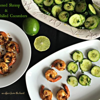 Blackened Shrimp & Crisp Chilled Cucumbers