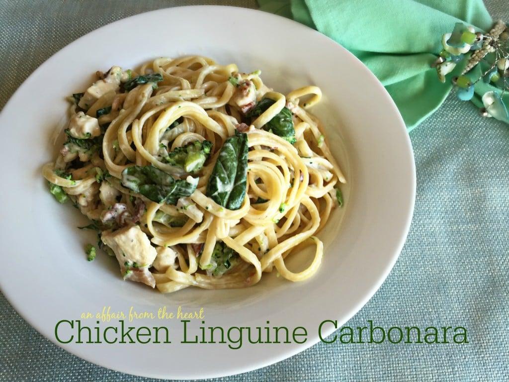 Chicken Linguine Carbonara