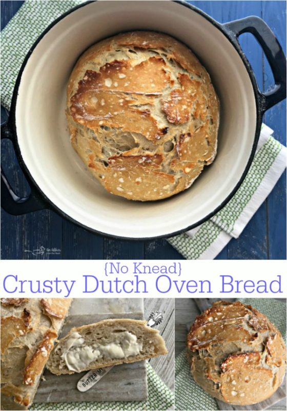 No Knead Crusty Ducth Oven Bread - An Affair from the Heart