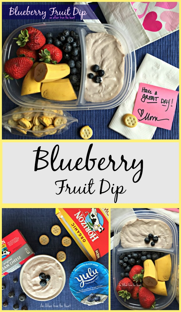 blueberry fruit dip vertical pin