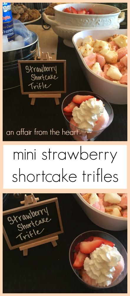 Mini Individual Strawberry Shortcake Trifles