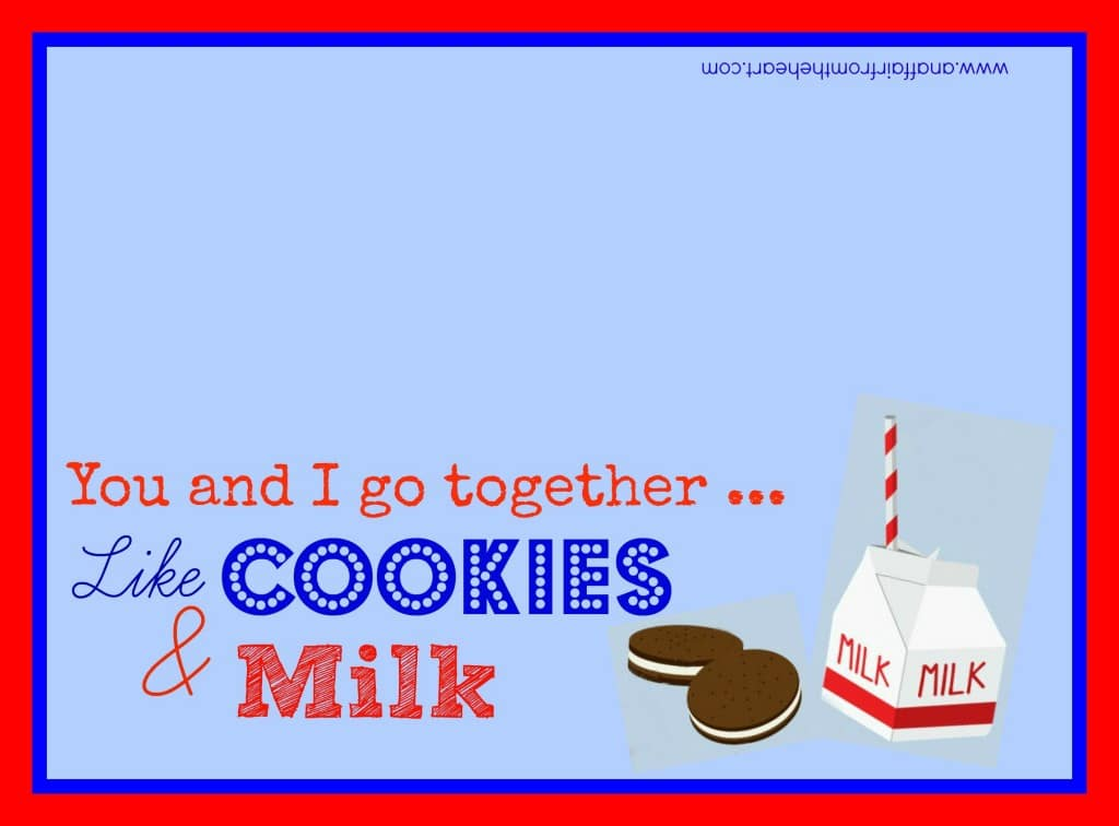 Cookies & Milk Printable anaffairfromtheheart.com