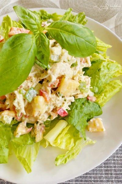 Peach Basil Chicken Salad