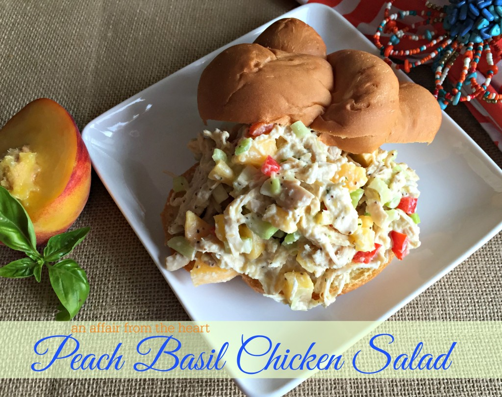 Peach Basil Chicken Salad