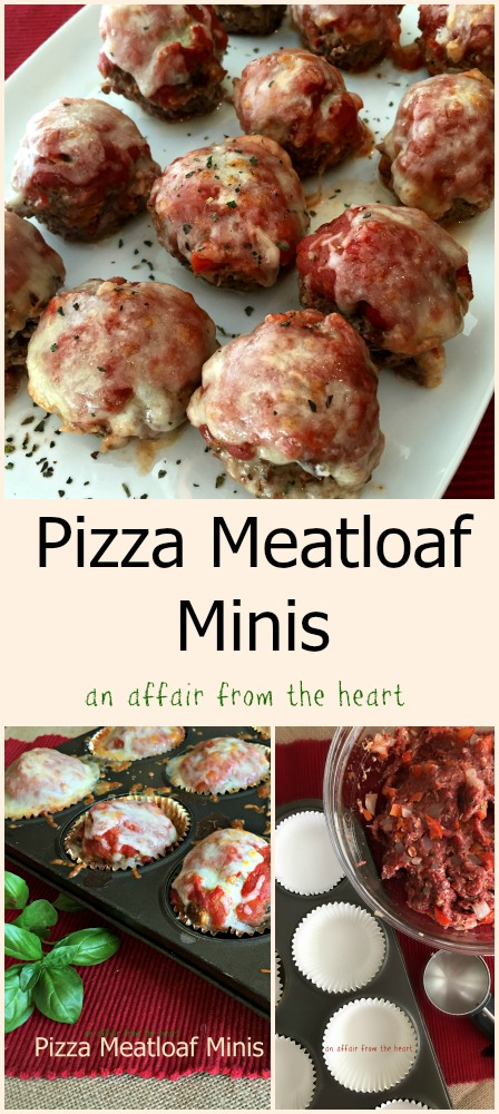 Pizza Meatloaf Minis | An Affair from the Heart