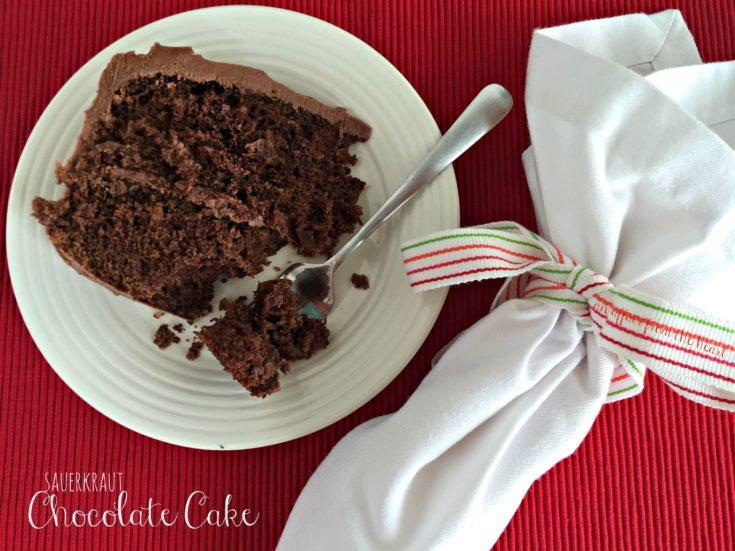 Sauerkraut Chocolate Cake with Sour Cream Chocolate Frosting