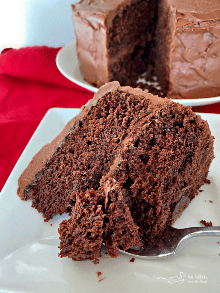 Sauerkraut Chocolate Cake with Sour Cream Chocolate Frosting