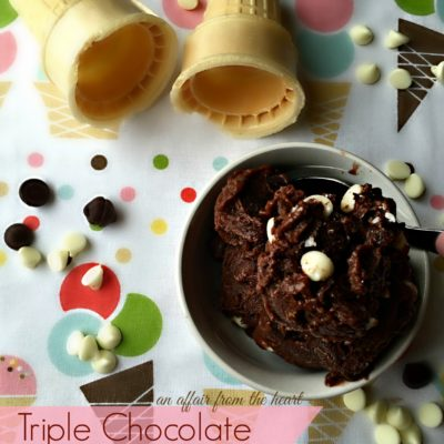 Triple Chocolate Frozen Pudding —  #SummerOfPudding
