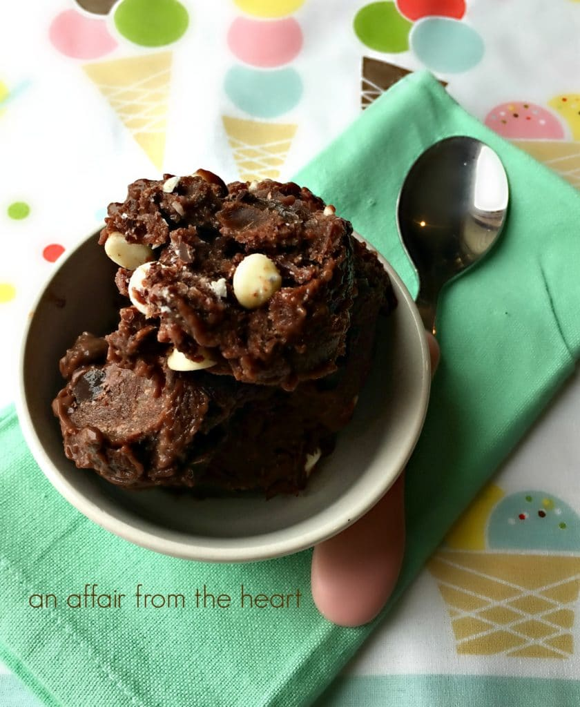 Triple Chocolate Frozen Pudding