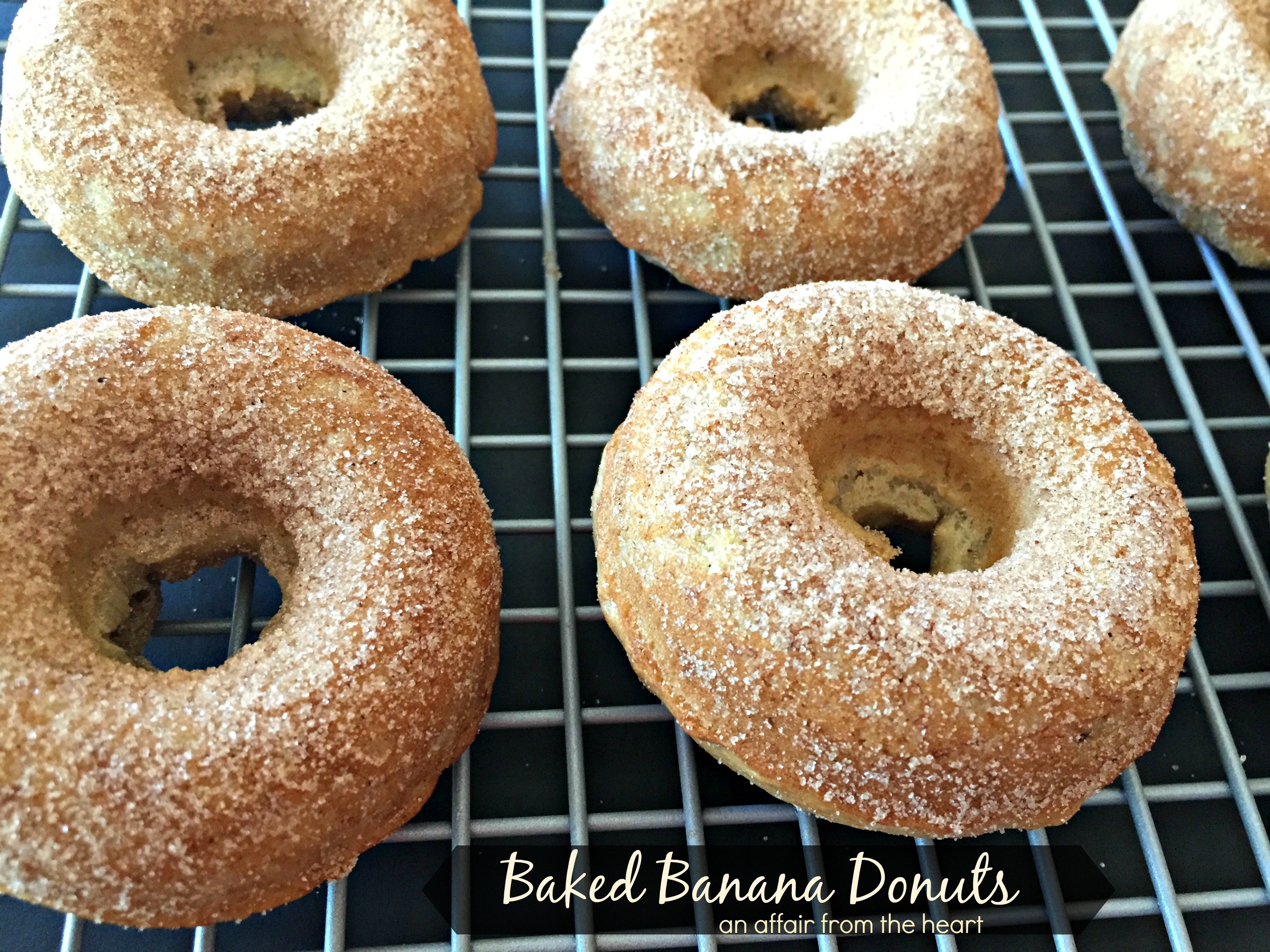 Baked Banana Donuts   Dusted with Spiced Sugar