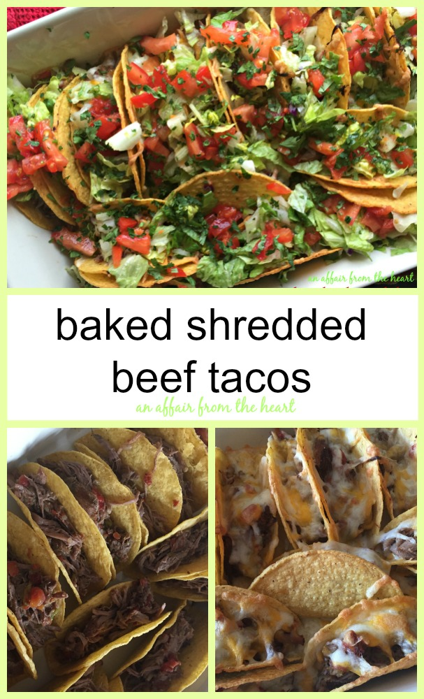 baked shredded beef tacos