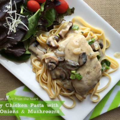 Creamy Chicken with Green Onions & Mushrooms