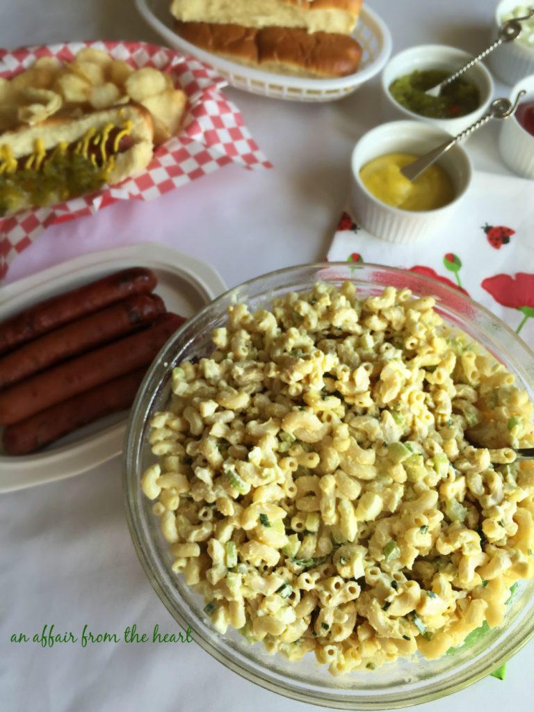 Mom's Macaroni Salad - An Affair from the Heart