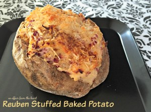 Reuben Stuffed Baked Potato